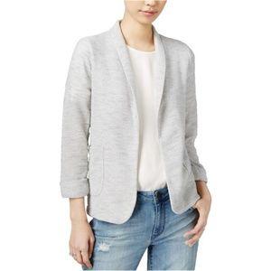 Maison Jules Knit Jacket Women's Heathered Gray L